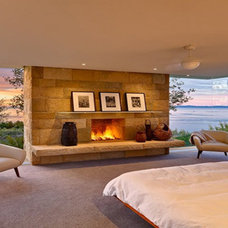 Modern Bedroom by ARNOLD Masonry and Landscape