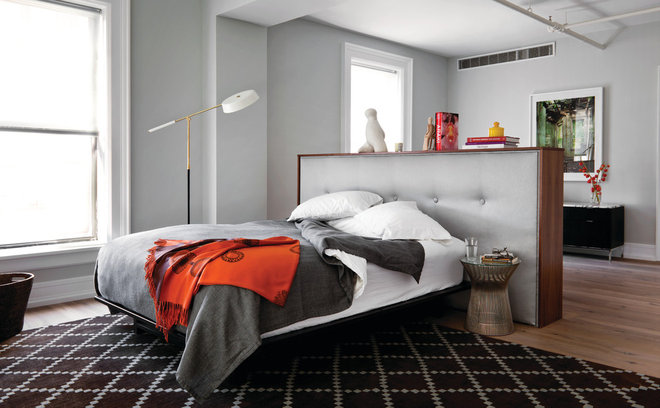 Industriell Sovrum Modern Bedroom