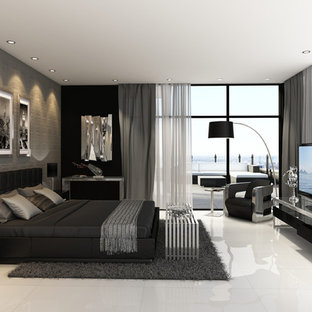 Inspiration for a modern bedroom remodel in Other
