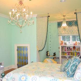 Foto på ett funkis sovrum