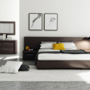 Inspiration for a modern bedroom remodel in New York