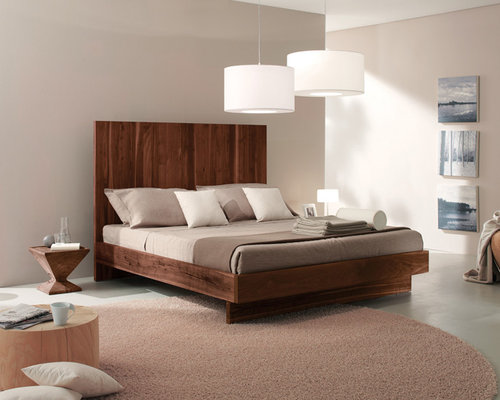 Modern wood bed houzz for Modern wooden bedroom designs