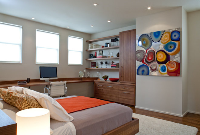 Modern Bedroom by Jennifer Gustafson Interior Design