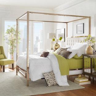 Ispirazione per una camera da letto boho chic