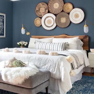 Modern Bohemian Tudor | Master Bedroom
