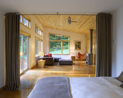 Modern bedroom curtains houzz for Innenarchitektur rathke