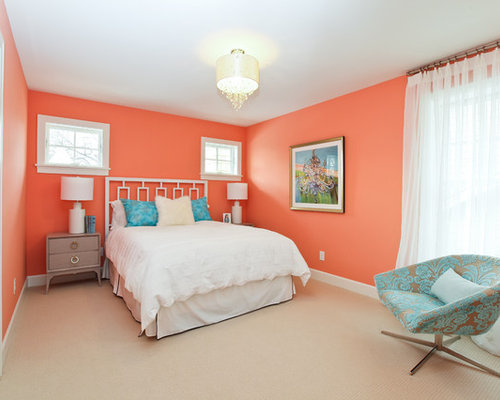 Peach paint color home design ideas pictures remodel and for Peach bedroom decor