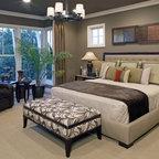 Dreamy Purple Master Bedroom Suite Traditional Bedroom
