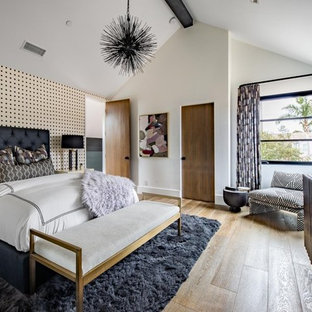 Inspiration for a modern bedroom in Orange County.
