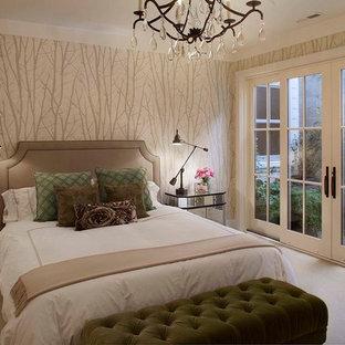 Bedroom - cottage carpeted bedroom idea in San Francisco