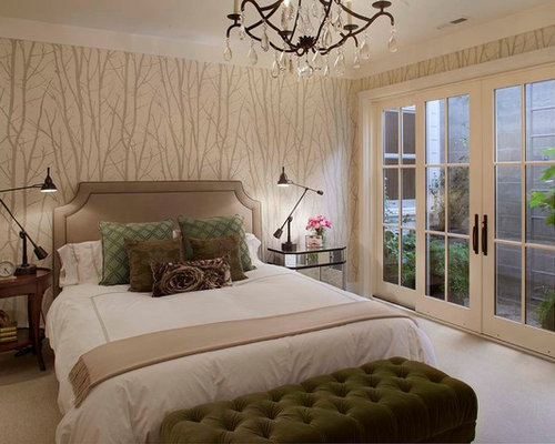 Bedroom With Wallpaper Photos. Houzz   Bedroom With Wallpaper Design Ideas   Remodel Pictures