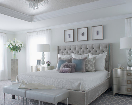 best gray bedroom design ideas remodel pictures houzz. Black Bedroom Furniture Sets. Home Design Ideas