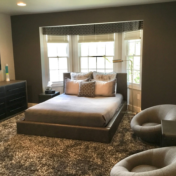 Modern Gray Boys Teen Bedroom