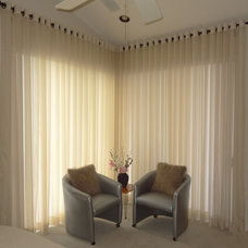 Contemporary Bedroom by Maria J. Window Treatments and Home Décor