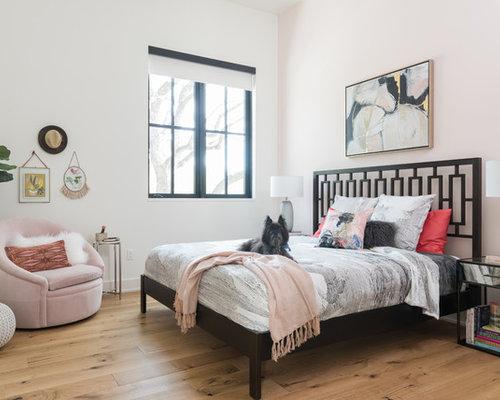 landhausstil schlafzimmer mit rosa wandfarbe ideen design bilder houzz. Black Bedroom Furniture Sets. Home Design Ideas