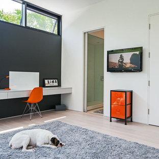 Orange And White Bedroom   Houzz