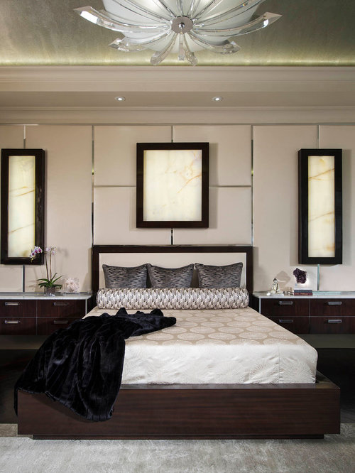 Transitional Master Bedroom Design Ideas Remodels Photos With Beige Walls