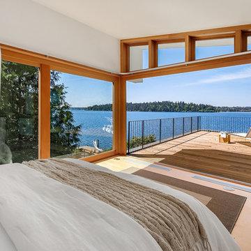 Modern Mercer Island Home With Large Windows