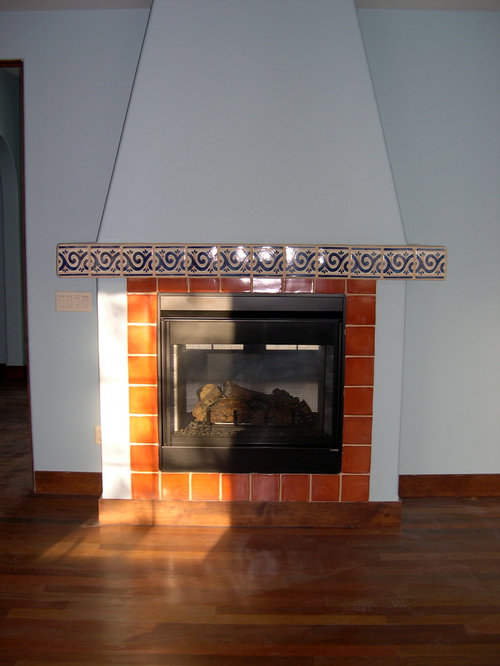 Best southwestern bedroom with a two sided fireplace for Southwestern fireplaces