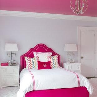 Пример оригинального дизайна: спальня в стиле современная классика
