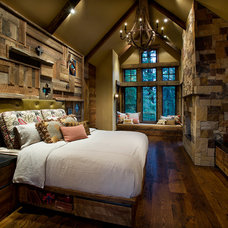Rustic Bedroom by IMI Design, LLC
