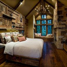 Rustic Bedroom by IMI Design, LLC