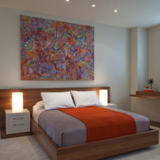 Contemporary Bedroom by Jennifer Gustafson Interior Design