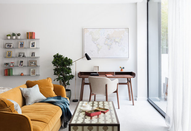 Houzz Tour Neutral Contemporary Makes Way For Clean Lined Cozy