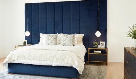 Idea to steal: Eine Polsterwand im Schlafzimmer