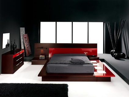 contemporary bedroom by David