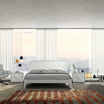 Modern Platform Bed Lapis by SPAR, Italy - $2,575.00