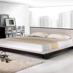 Comfy Modern Platform Bed with Fabric Headboard - Features