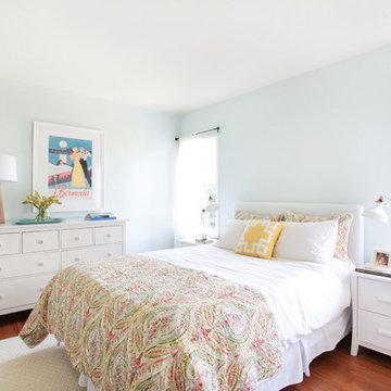 Modern Preppy Master Bedroom on a Budget in Sherman Oaks