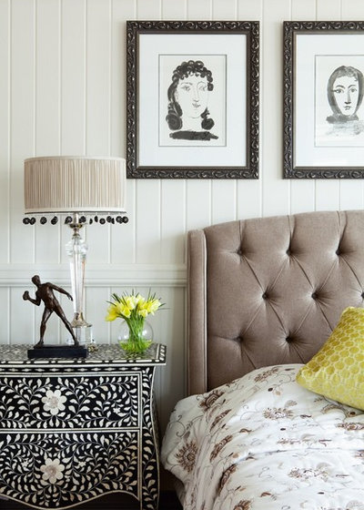 Transitional Bedroom by John Croft Design