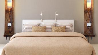 Modern Rustic, Hotel style Shelf Light Units