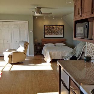 Minimalist bedroom photo in Other