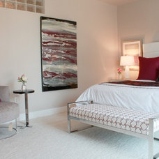 Contemporary Bedroom by Traci Connell Interiors
