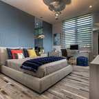 Basement remodel contemporary bedroom boston by for Gmt home designs inc