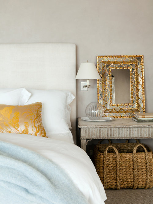 White And Gold Bedroom | Houzz