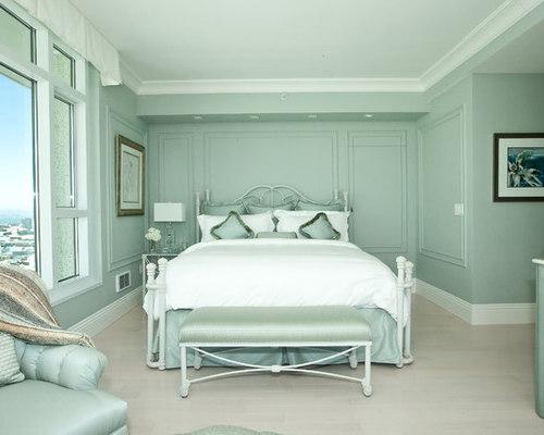 Best Seafoam Bedroom with Green Walls Design Ideas & Remodel ...