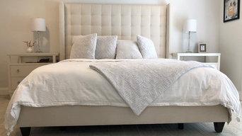 Monochromatic White Master Bedroom