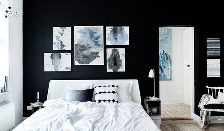 22 super stilede soveværelser med sorte vægge