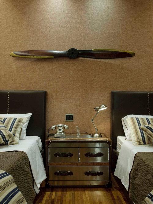 Bedroom - tropical bedroom idea in Other
