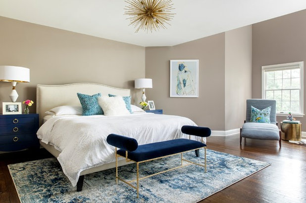 Transitional Bedroom by MODCLAIR