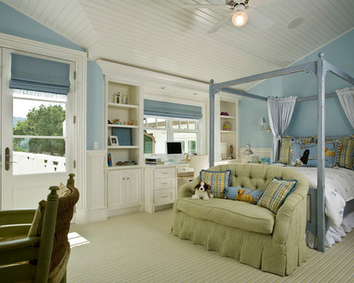 French Blue Bedroom Ideas And Photos Houzz - French blue bedroom design