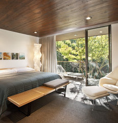 contemporary bedroom by Allen Associates