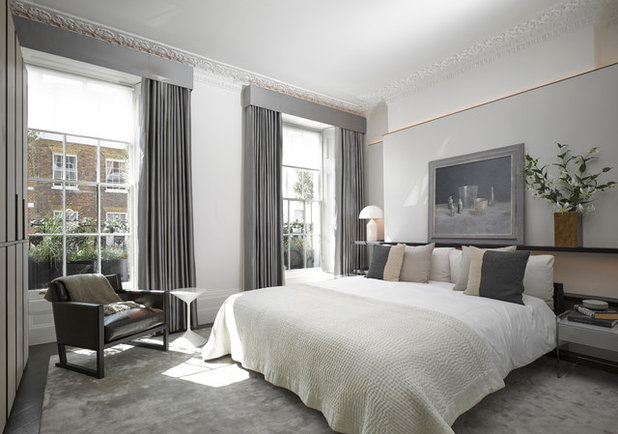 Transitional Bedroom by Obespoke & Obbard Design & Development