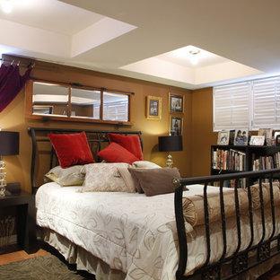 Bild på ett vintage sovrum