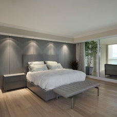 Contemporary Bedroom by Grand Woodworking
