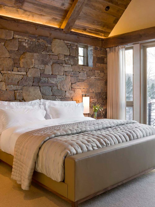 Bedroom Decorating Ideas With Stone : Rustic bedroom design ideas remodels photos houzz